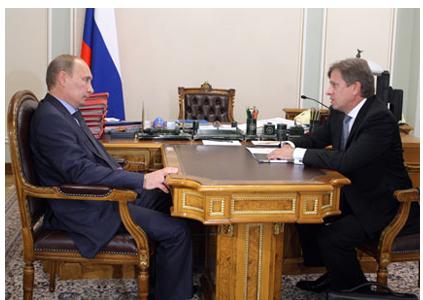 Председатель Правительства Российской Федерации В.В.Путин провёл рабочую встречу с генеральным директором компании «Аэрофлот» В.Г.Савельевым